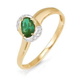 Кольцо с бриллиантами и натуральными изумрудами БР310016 delta фото